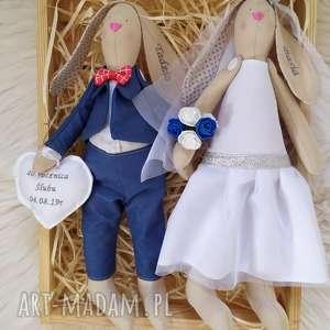 para ślubna, lalki na ślub, pamiątka ślubu, króliki, tilda, pamiątka, ślubu