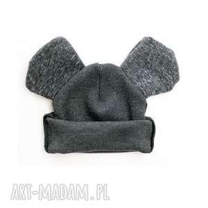 Czapka z uszkami grafit , czapka-dla-dziecka, czapka-na-zime, czapka-z-uszkami