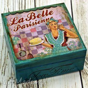 herbaciarka- la belle, pin, up, girl, lata, 50, pudełko dom, święta prezent