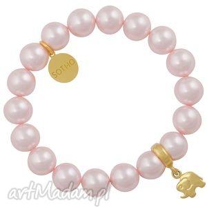 jasnoróżowa dziecięca bransoletka perły swarovski® elements