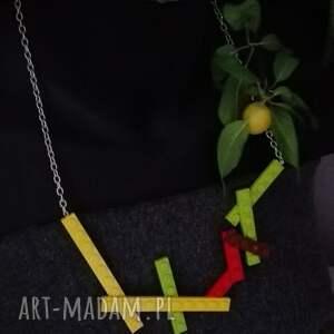 naszyjniki naszyjnik lego kolorowy, z lego, zabawny