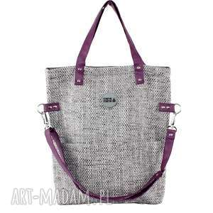 na ramię torba damska cube #plum 220 00 pln, torba, duża, pleciona tkanina