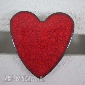 broszka ceramiczna serduszko - serce, ceramiczna, broszka, z-ceramiki