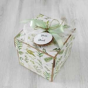 pudełko kartka - ślub wesele, prezent, box