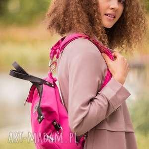 handmade na ramię plecak torba 2 in1 fuksja