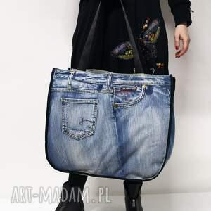 majunto duża torba upcykling jeans g-star 77 dwustronna od majunto