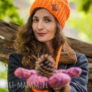 handmade czapki follow me mechaniczna pomarańcza
