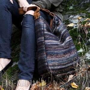 handmade na ramię iks worek vege navaho brąz rudy