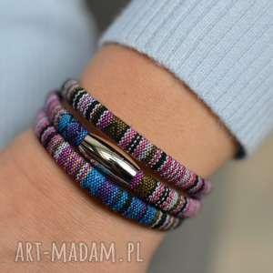 ręcznie wykonane bransoletki bransoletka magnetoos boho titicaca stal szlachetna
