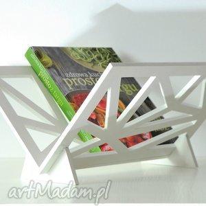 Prezent Stojak na gazety, geometryczny, nowoczesny, drewniany,