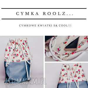 Cymka - duza torba typu worek, cudo!, torebka, etno, kwiaty, boho, kolorowa