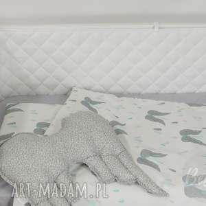 ochraniacz do łóżeczka pikowany biały, wyprawka, wyprawka niemowlaka