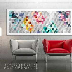 obraz na płotnie - 150x60cm abstrakcja sześciany 0271 wysyłka w 24h