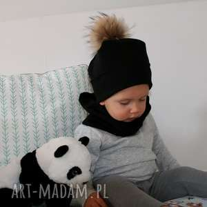 zimowa czapka dziecięca z dzianiny, czapka, dzianina, pompony, czapki, dzianiny