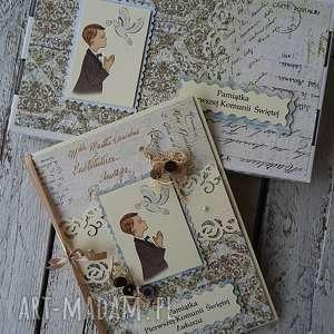 handmade scrapbooking kartki kartka komunia pudełko