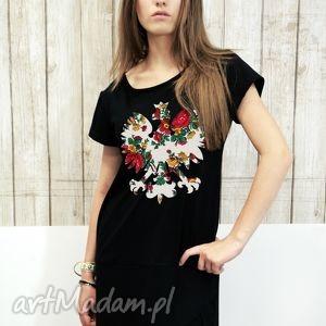 sukienki asymetryczna sukienka dress pl summer black s/m, dress, sukienka, orzeł