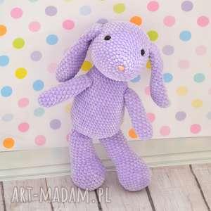 ręcznie robione maskotki szydełkowy mały króliczek - fiolet. Możliwość