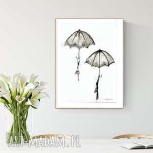 Grafika wykonana ręcznie a3, abstrakcja, elegancki minimalizm