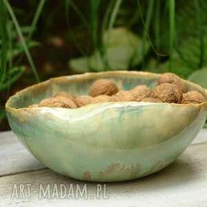 kmdeka seledynowa misa z pięknym szkliwem, ceramiczna