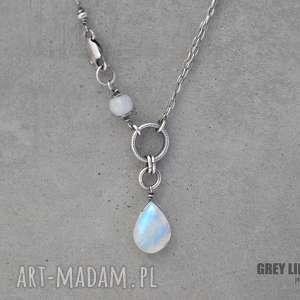 Moonstone naszyjnik, srebro, kamień, księżycowy, moonstone, minerały