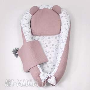 ręczne wykonanie pokoik dziecka wafelek kokon kocyk podusia 3el. Scandi born