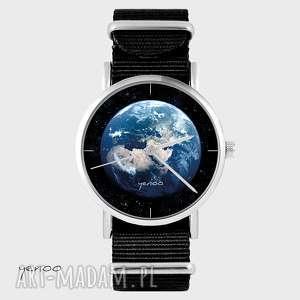 Prezent Zegarek - Ziemia czarny, nato, zegarek, bransoletka, ziemia, grafika