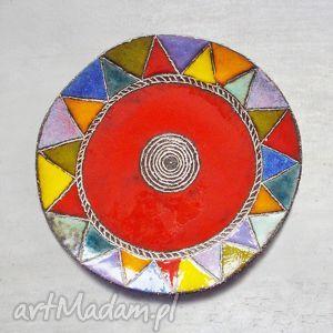 patera ceramiczna multikolor 31 cm, ceramika, patera, talerz, glina