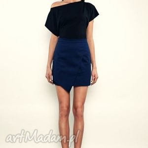 spódnice spódniczka mini z asymetrycznym przodem, spódnica, asymetryczna