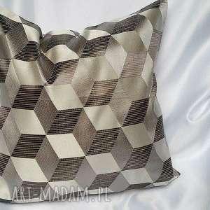 poduszka w geometryczne wzory, poduszka, poszewka, poliester, kulkasilikonowa