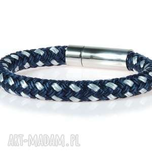 hand-made męska bransoletka z liny bransolety męskie bransoletki argento