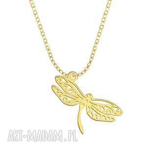 celebrate - dragonfly - necklace g - ,ważka,celebrytka,