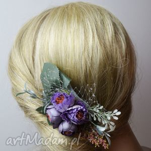 hand-made ozdoby do włosów grzebyk wiosenny