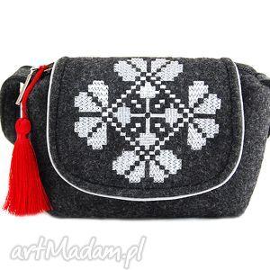 handmade na ramię torebka filcowa dla dziewczynki farfun f01