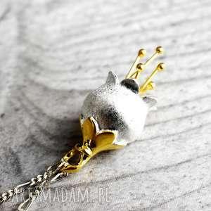 925 Srebrny łańcuszek DZWONECZEK - ,dzwoneczki,naszyjnik,natura,srebrne,kobiecy,925,