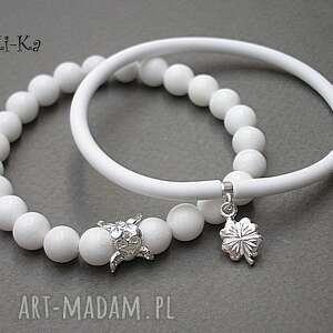 alloys collection - white double /30 04 15/, kauczuk, jadeity, brąz, posrebrzane