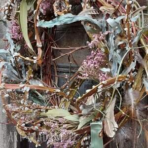 dekoracje wianek wielkanocny wiosenny na drzwi, wielkanoc