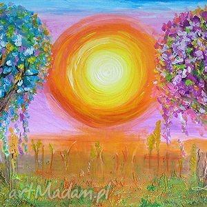 obraz - narodziny akryl na płótnie, obraz, ezoteryczny, drzewa, drzewo, abstrakcja