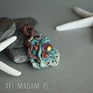 ręcznie robione wisiorki wisior rafa koralowa