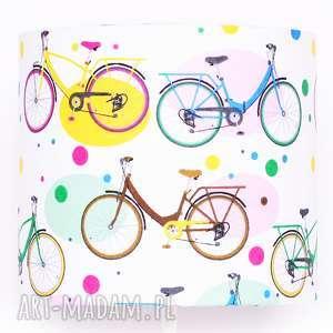abażur my bike 25x25x22cm od majunto, abażur, dziecięcy, w rowery