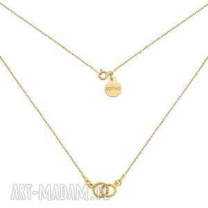 sotho złoty naszyjnik z dwoma karmami - łańcuszek, kółeczka