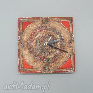 santin zegar majów i, wnętrze, zegar, dekoracja, ceramika, handmade, unikatowy dom
