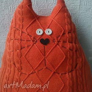 maskotki kot pomarańczowy poducha maskotka, kot, kotek, ogon, poduszka, zabawka
