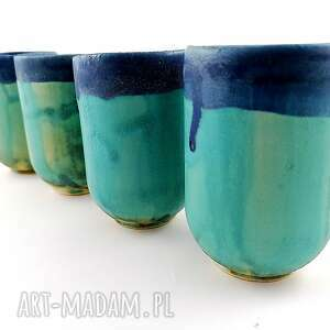 ceramiczne czarki - 4 szt, filiżanka, prezent, kawa, czarka, dekoracje
