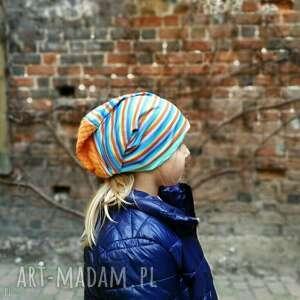 czapki czapka dzianina sport bieganie etno wzory wiosna-box 44 - charakter