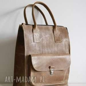 hand-made skórzana torba do ręki, niepowtarzalna