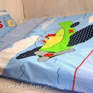 oryginalna pościel bawełniana z aplikacjami i imieniem - łóżko
