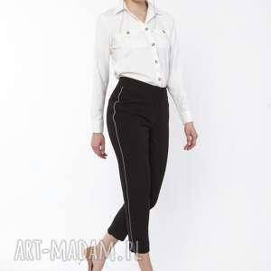 lanti urban fashion spodnie z ozdobnymi lampasami, sd116 czarny, spodnie, czarne
