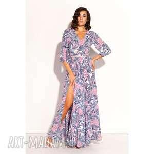 sukienka galina, letnia, wzorzysta, zwiewna, kolorowa, fajna, efektowna