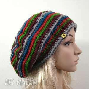 kolorowy beret czapka, kolory uniwersalny, prezent