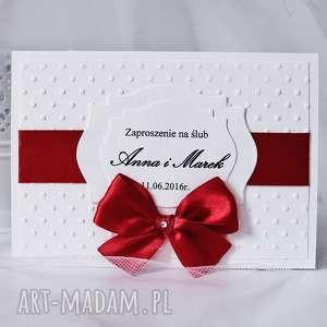 Zaproszenie ślubne - tłoczone kropki, zaproszenia, ślubne, zawiadomienia, kropki